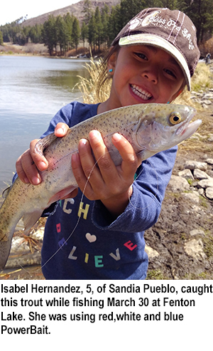 New mexico fishing and stocking report for april 4 for Nm fish stocking report