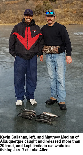 New mexico fishing and stocking repors for jan 9 for Ute lake fishing report