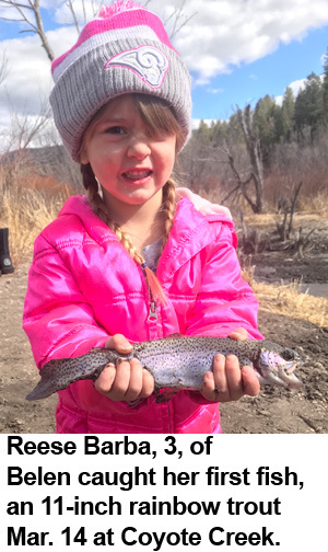 New mexico fishing and stocking reports for march 20 for Conchas lake fishing report