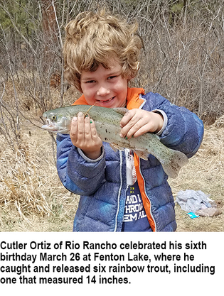 New mexico fishing and stocking reports for march 27 for Nm fish stocking report