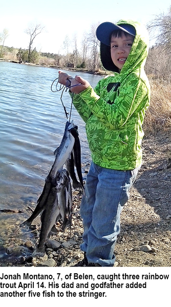 New mexico fishing and stocking reports for april 17 for Conchas lake fishing report