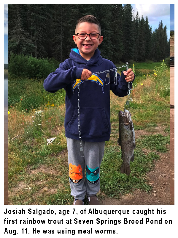 New Mexico fishing and stocking reports for August 20