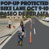 Pop up bike lane