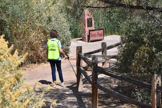 Wetlands Watcher on the trails