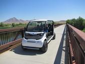 Safari cart at the big bridge