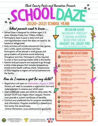 School Daze Flyer
