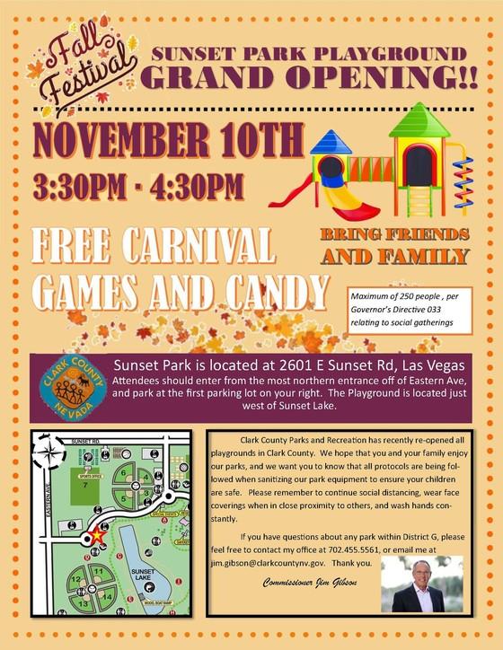 Sunset Park Playground Grand Opening