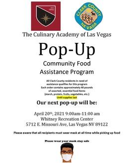 Pop-Up Food Assistance Program