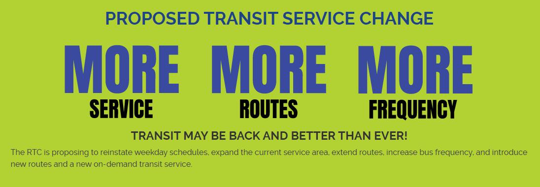 Propsed Transit Service Change