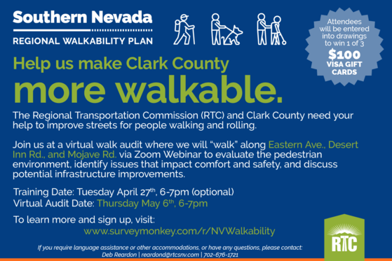 Walkability Survey for Southern Nevada