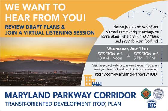 Maryland PKWy Corridor TOD Plan