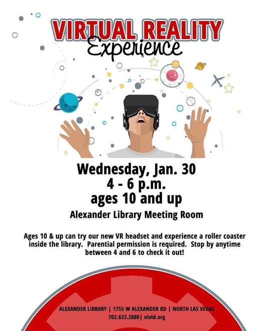 VR experience flyer