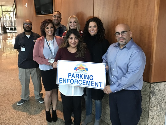 Parking services team