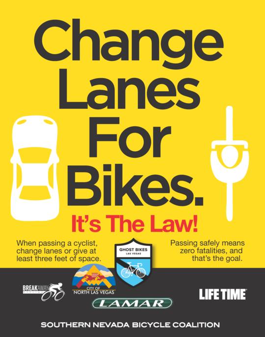Change lanes for bikes flyer