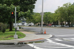 Intersection of Palmer and Stephenson with new curb cut