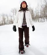 Snowshoe woman
