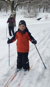 Young Cross-Country Skiier