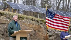 Commissioner Erik Kulleseid at Grant Cottage
