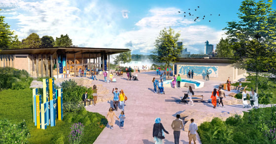 Niagara Falls State Park visitor center rendering
