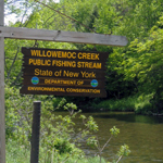 Willowemoc Creek Public Fishing Stream sign