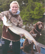 Angler achievement award winning tiger muskellunge