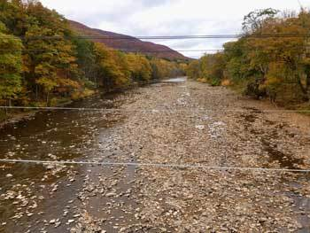 Low water conditions on the Esopus Creek