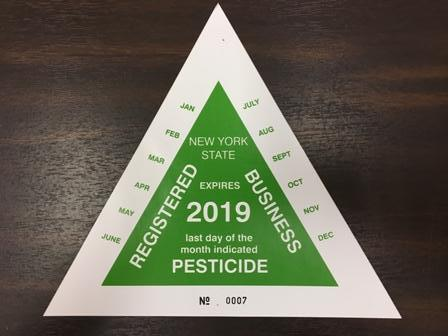 Pesticde Business Registration Decal