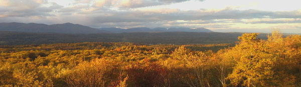 view of Catskills from the Shawangunk ridge - photo courtesy of Steve Stanne