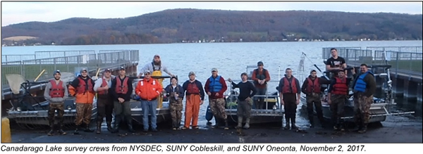 SUNY Oneonta, Cobleskill and DEC staff