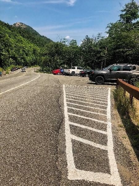 Busy road in Adirondacks
