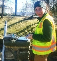 Erin Lefkowitz measures bridge and culvert capacity for flood flows and aquatic life.