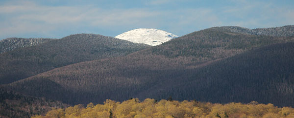 Snow-covered Mount Marcy from Newcomb courtesy of NYS Department of Environmental Conservation