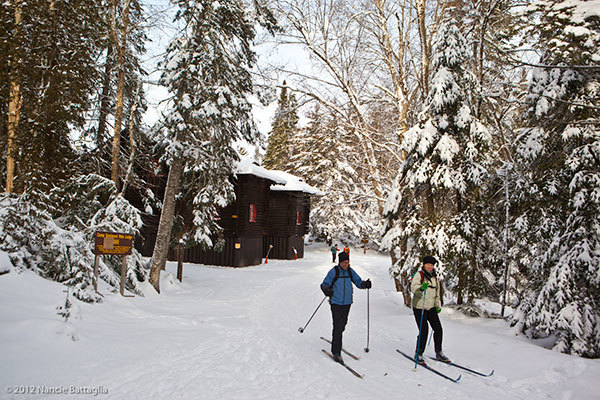 cross country skiing Santanoni
