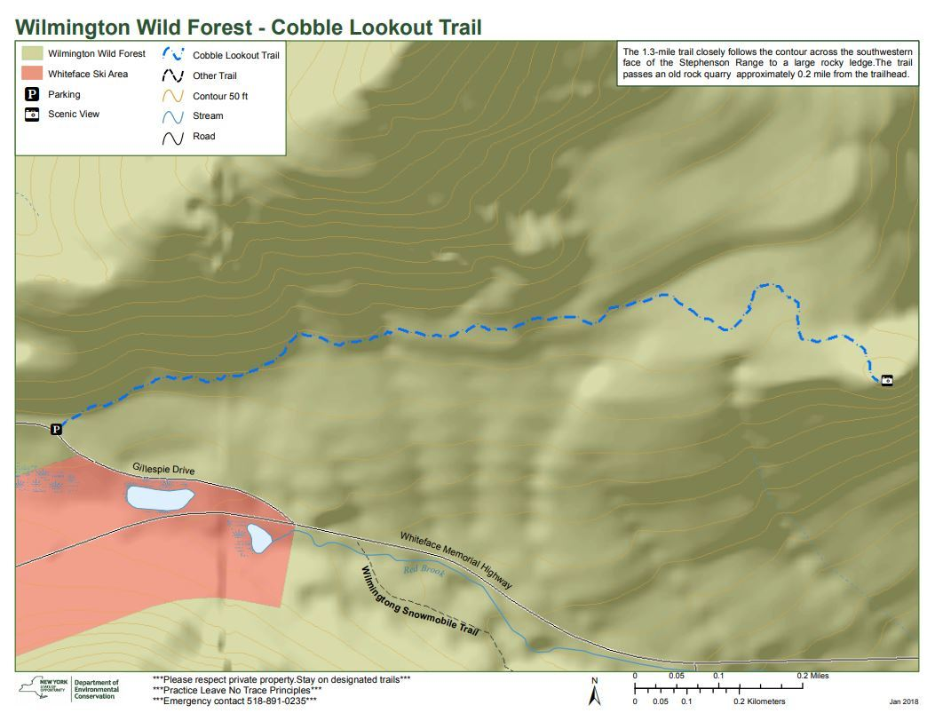 Cobble Lookout Trail Map