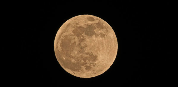 Full moon on the Vernal Equinox courtesy of Dana Layton