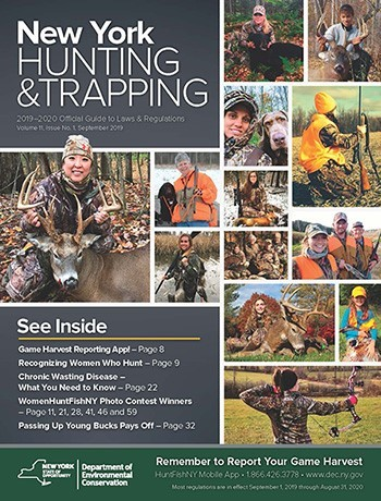 Cover of the 2019 New York Hunting and Trapping Guide