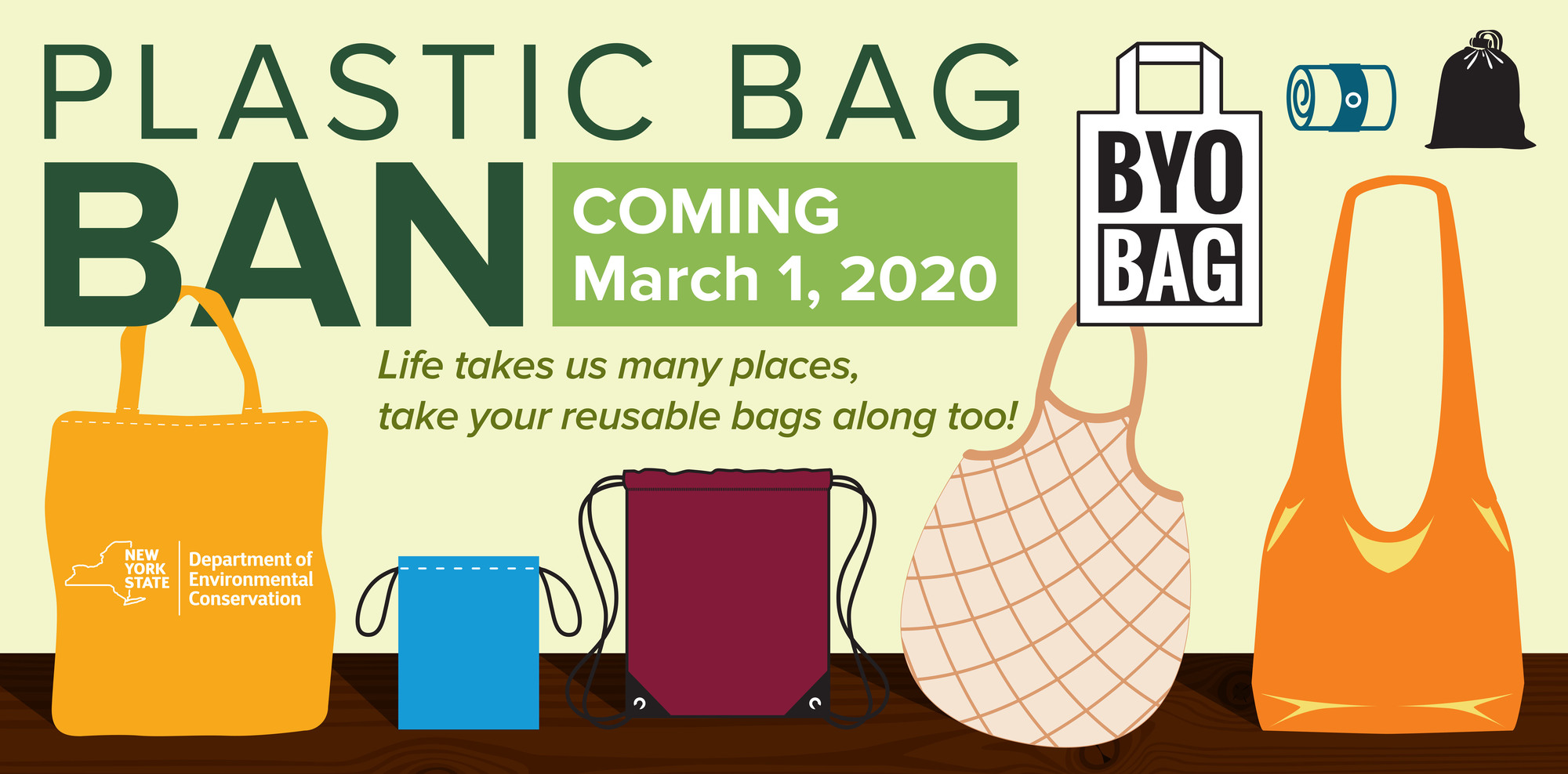 Life takes us many places, take your reusable bags along too!