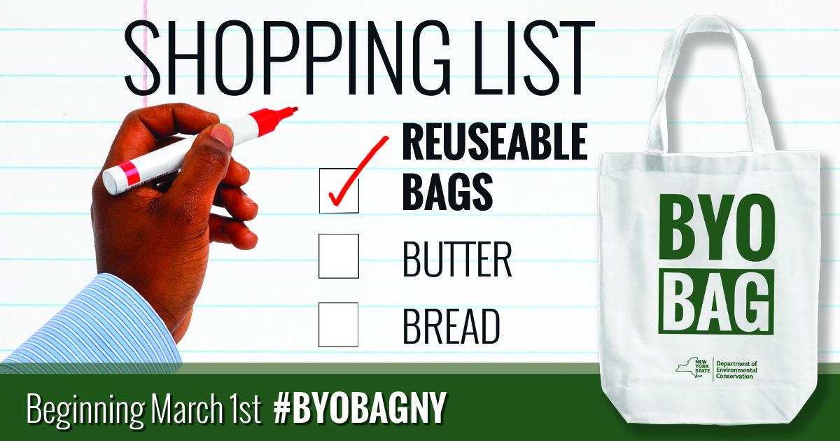 Plastic Bag Ban Shopping List March 1