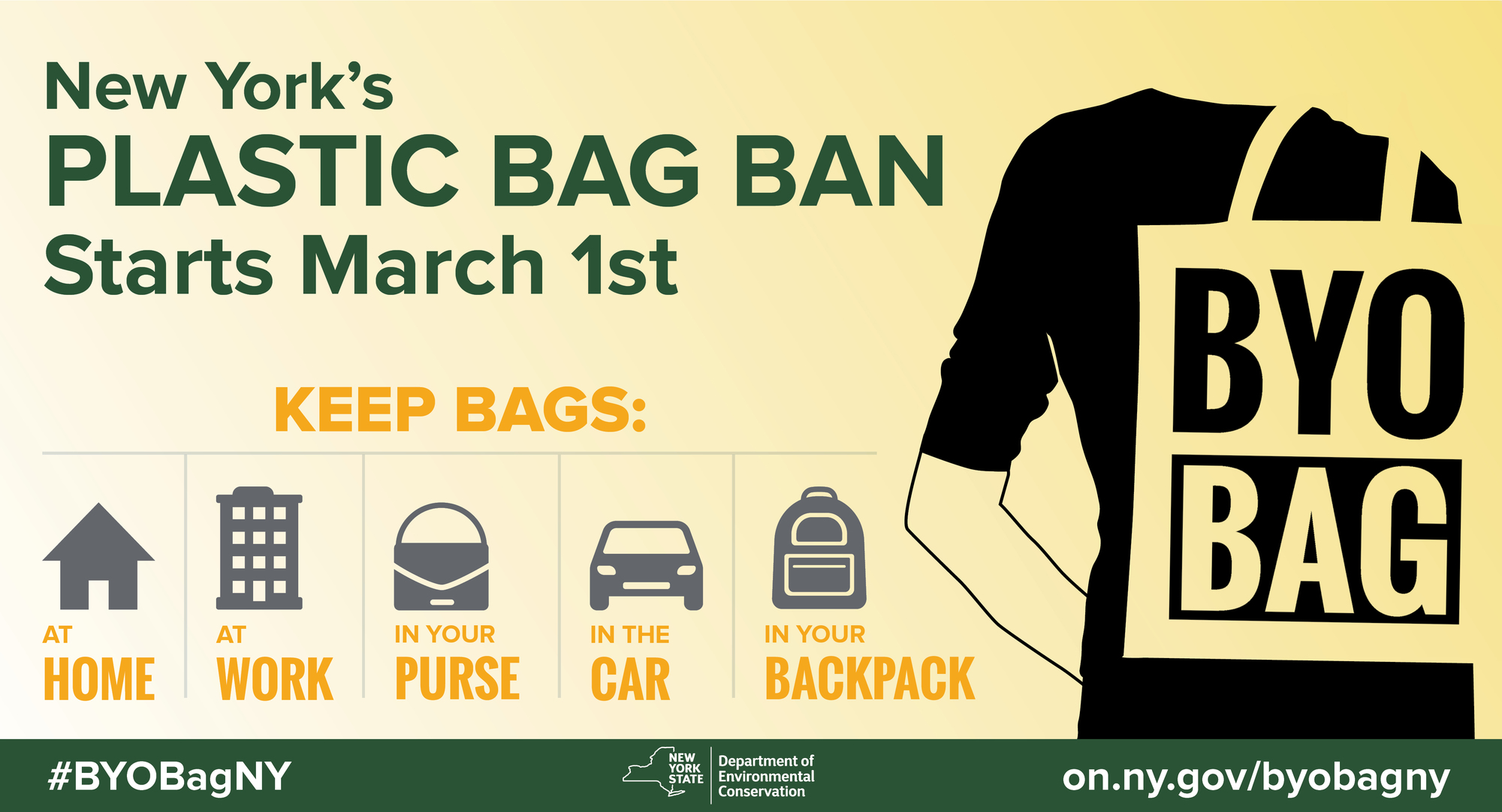 Bring Your Reusable Bag with you everywhere