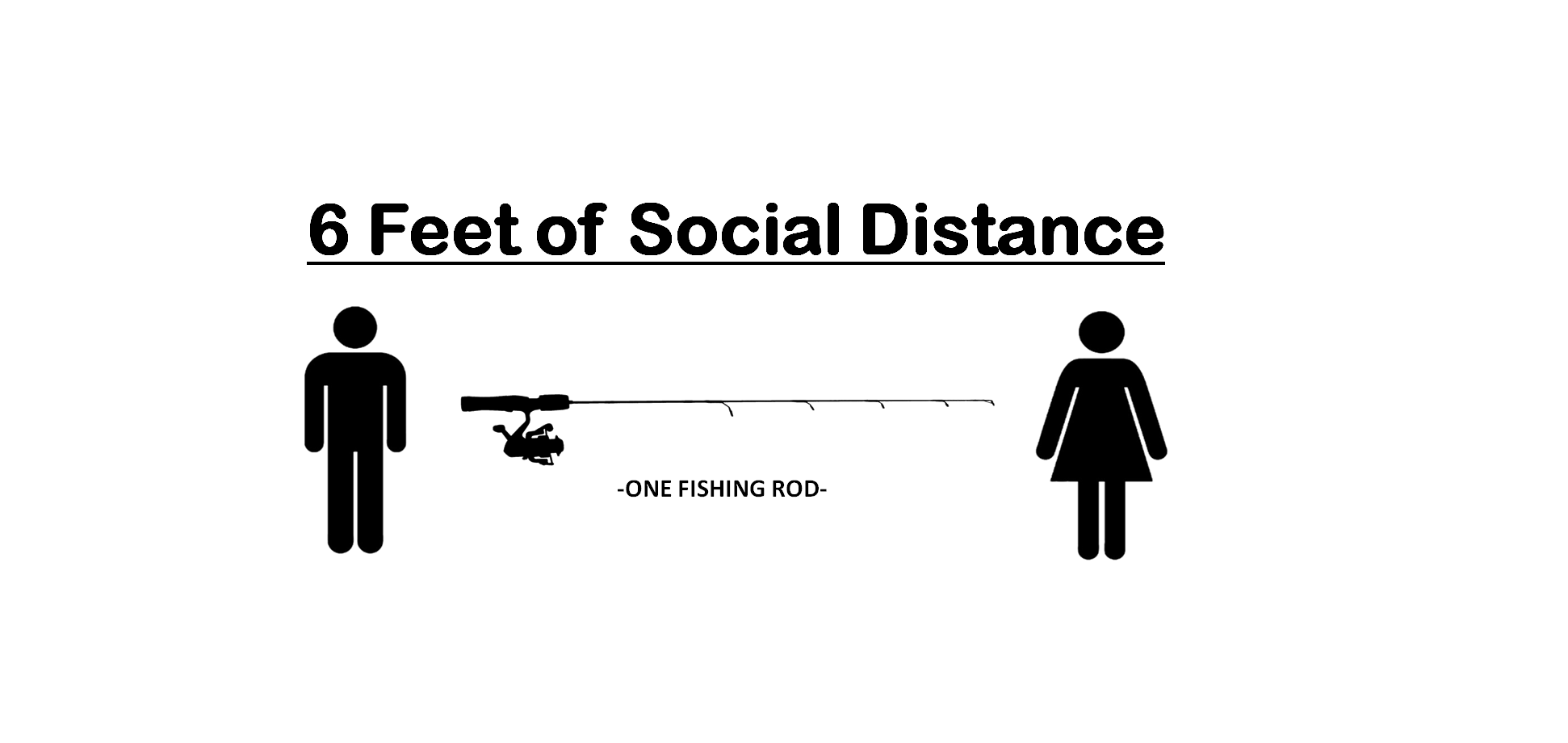Social Distance- One 6-Foot Fishing Rod Away