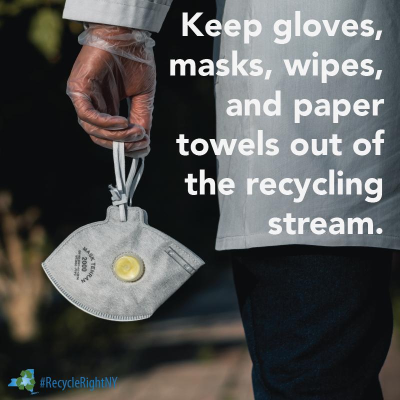 masks and gloves litter