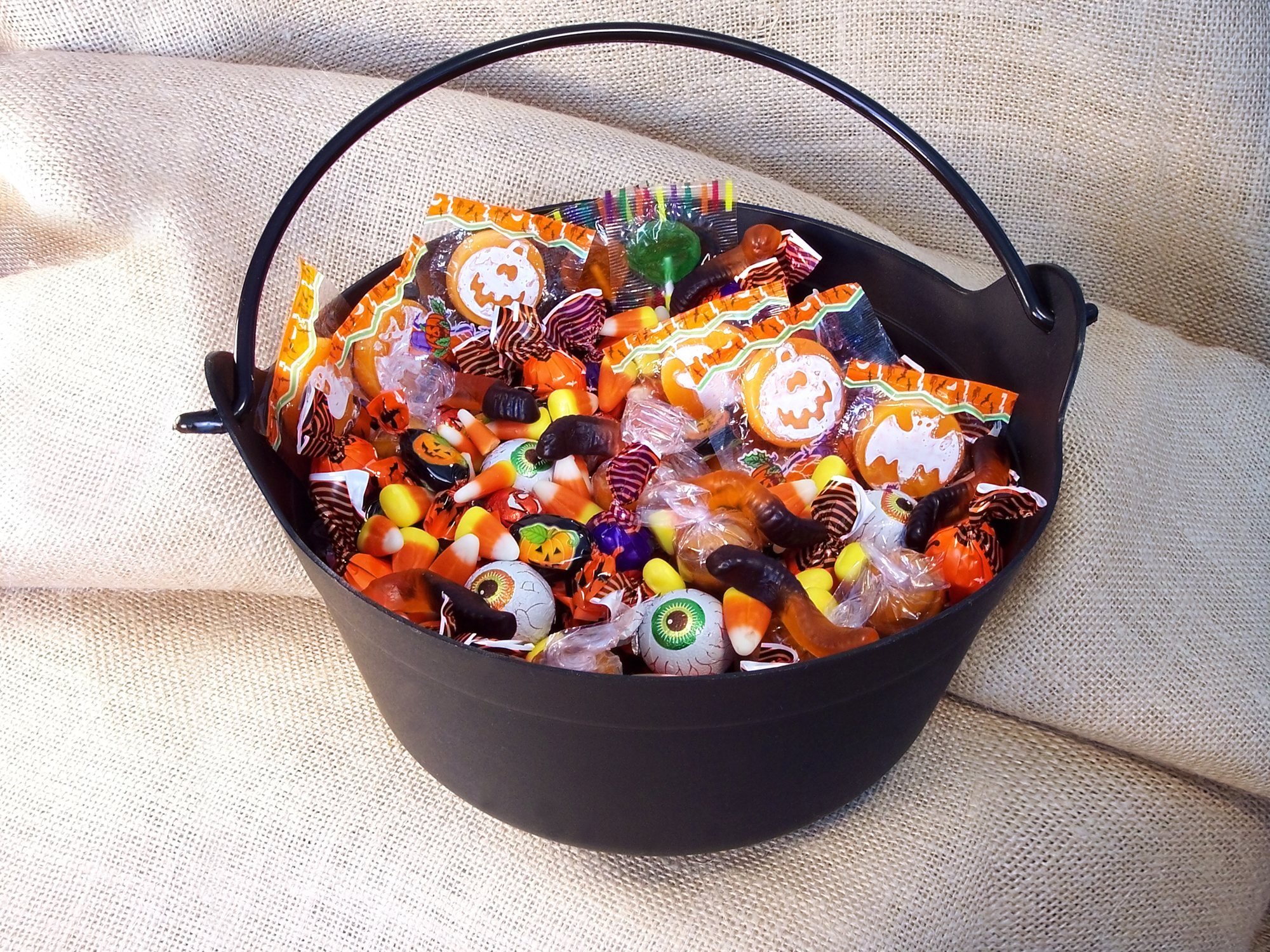 Bowl of Candy with wrappers
