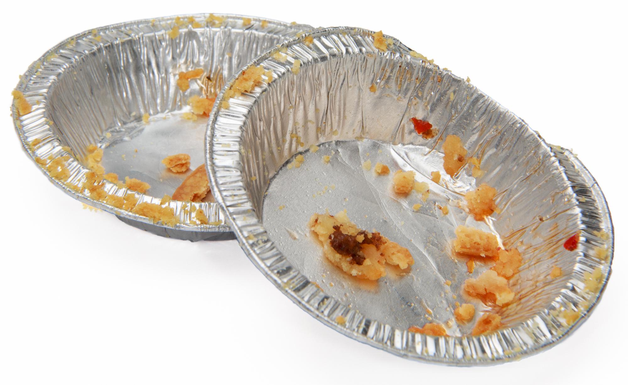 Soiled Foil Pans