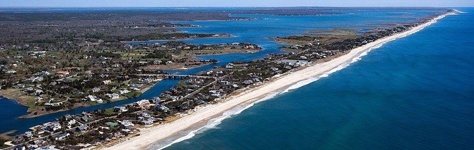 Arial View of Suffolk County Coastline