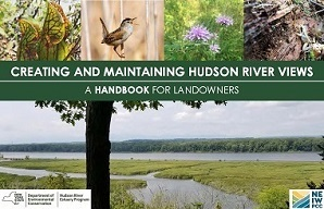 Cover of handbook includes view of Hudson River