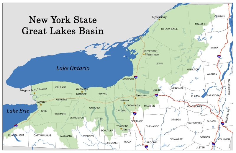 Great Lakes Basin Graphic