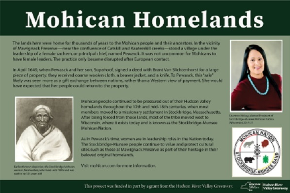 Mohican homeland signage