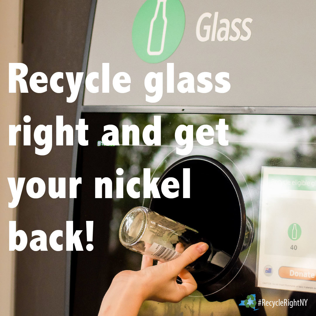 Image showing deposit bottle and to recycle these glass items right to get your nickel back