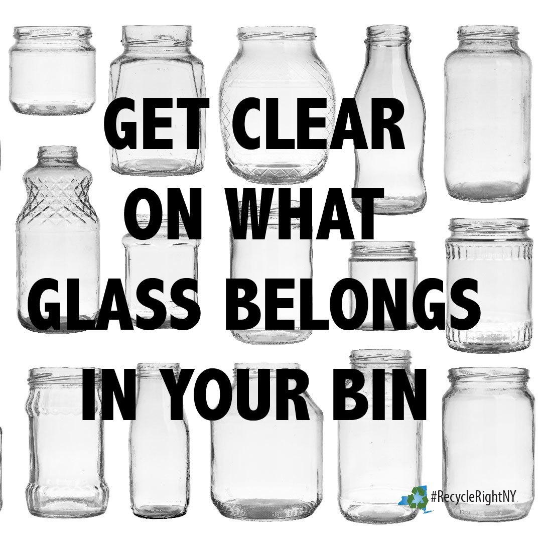 Image showing different types of glass jars that can go in your recycling  bin
