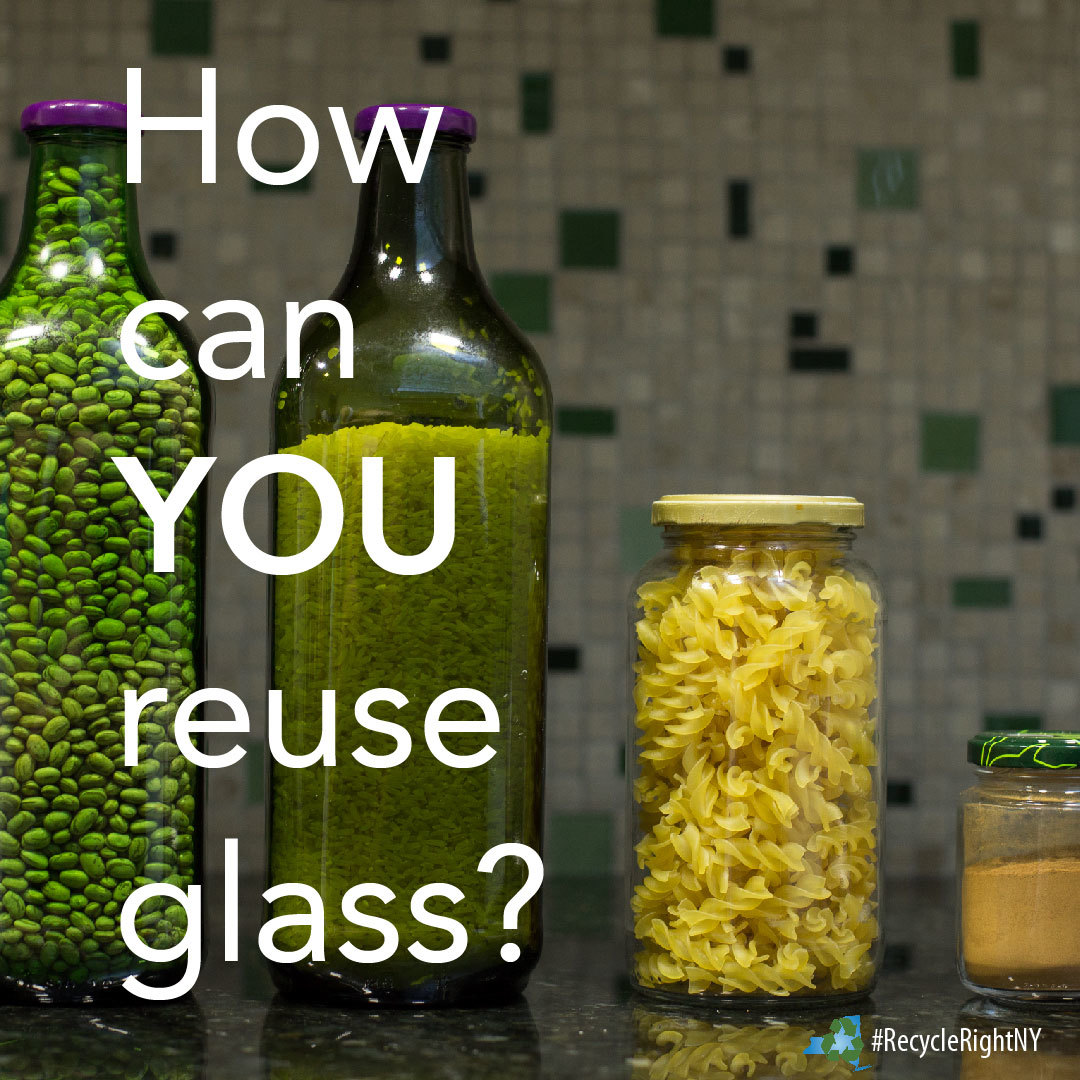 Image showing different ways to reuse glass bottles and jars